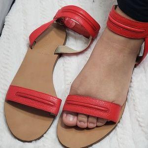 J crew leather sandals